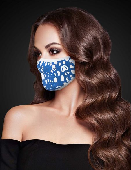 Reusable face mask - 3 layers - design Snow