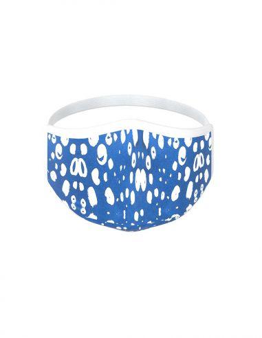 Masque facial réutilisable en tissu - 3 couches - design Paros